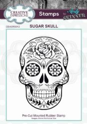 Creative Expressions - Rubber Stamp by Andy Skinner - Sugar Skull